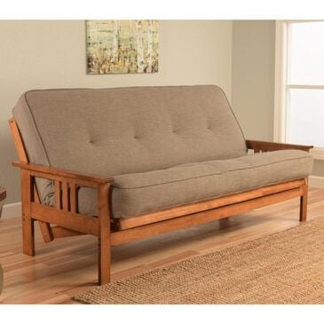 Kodiak Furniture Monterey Futon in Barbados with Linen Stone Mattress, , large