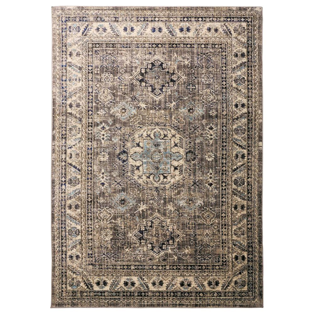 Feizy Rugs Bellini 2' x 3' Gray and Blue Area Rug, , large