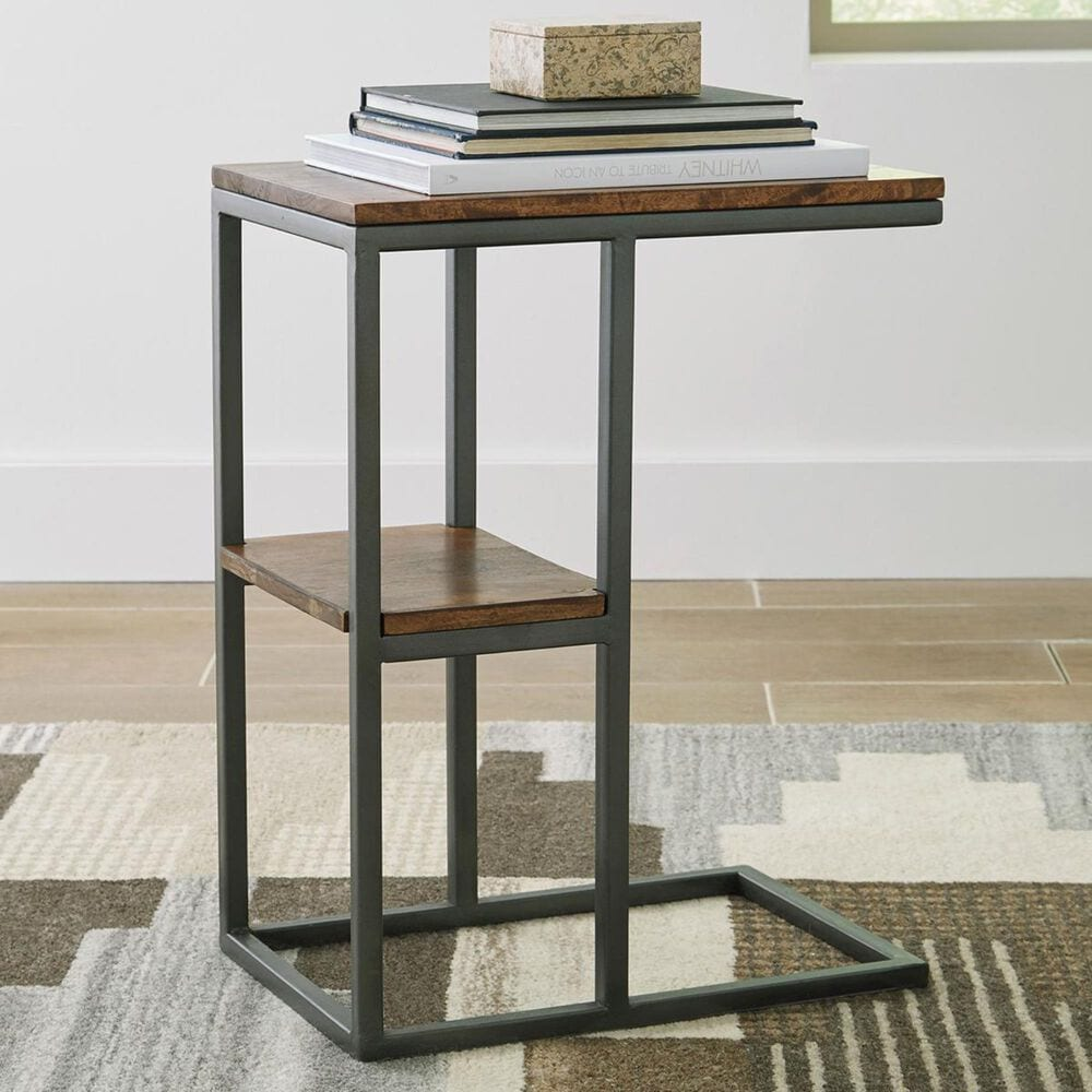 Signature Design by Ashley Forestmin Accent Table in Natural and Black, , large