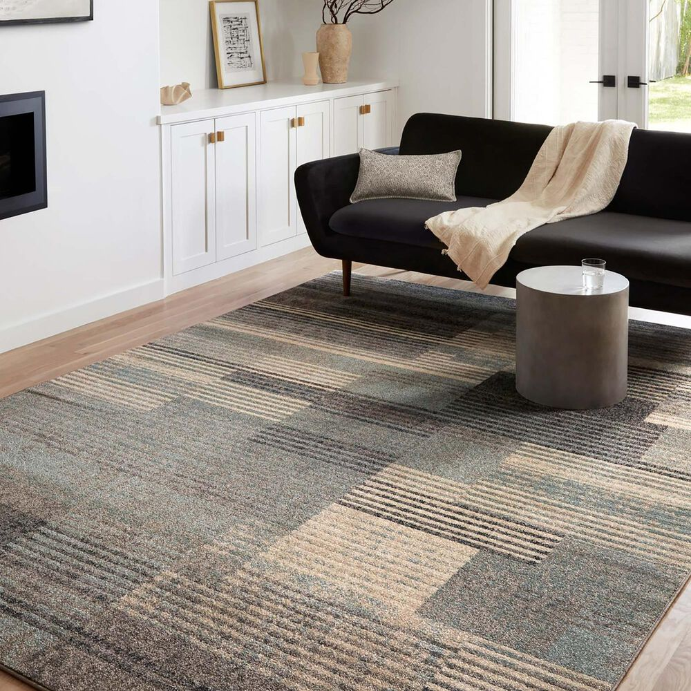 """Loloi II Bowery 6'7"""" x 9'7"""" Storm and Taupe Area Rug, , large"""