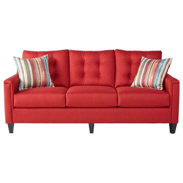 Hughes Furniture Sofa in Jitterbug Red, , large