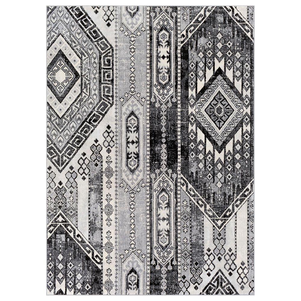 "Surya Monaco MOC-2325 5'3' x 7'3"" Black and Silver Gray Area Rug, , large"