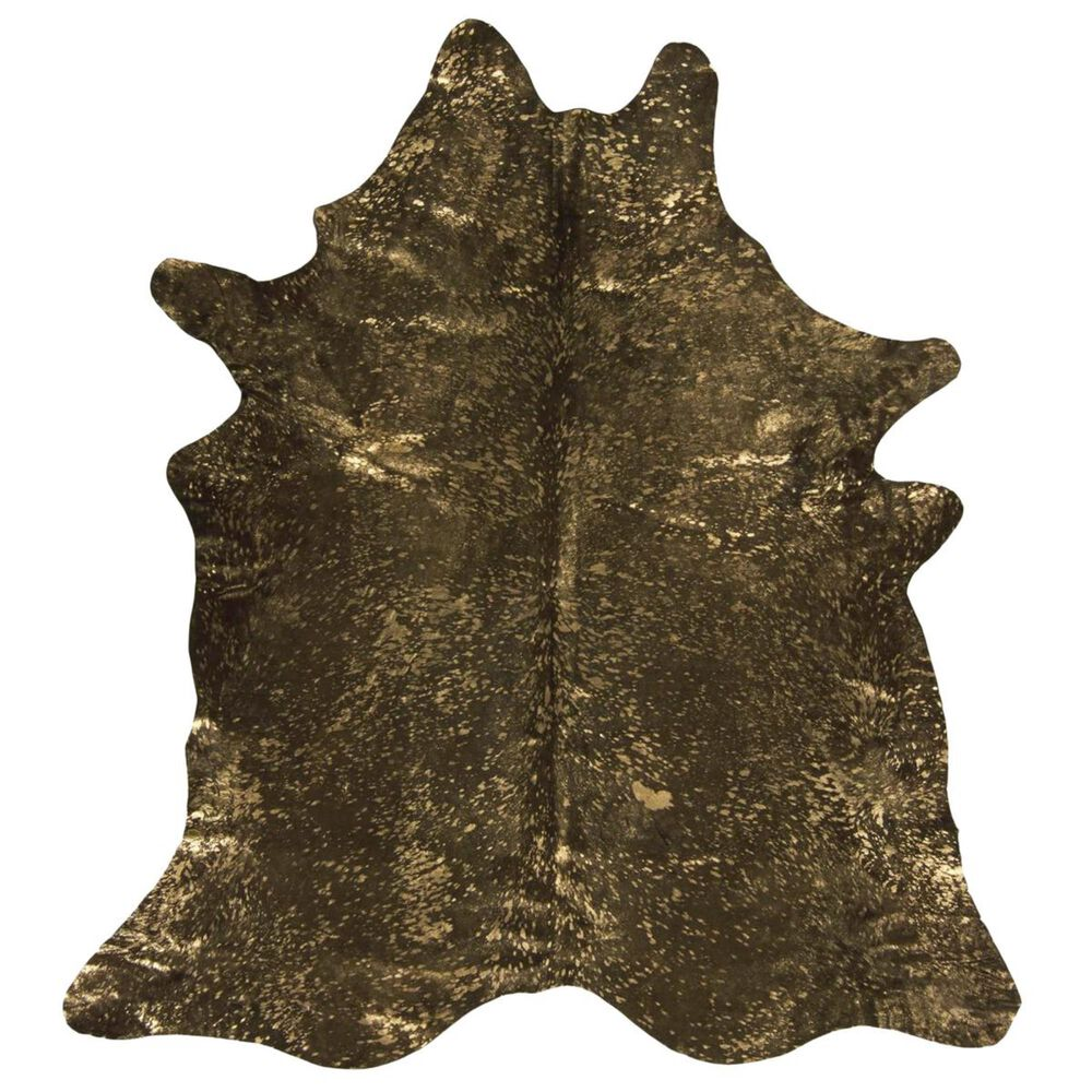 Nourison Couture Hide BR100 5' x 8' Brown and Gold Area Rug, , large
