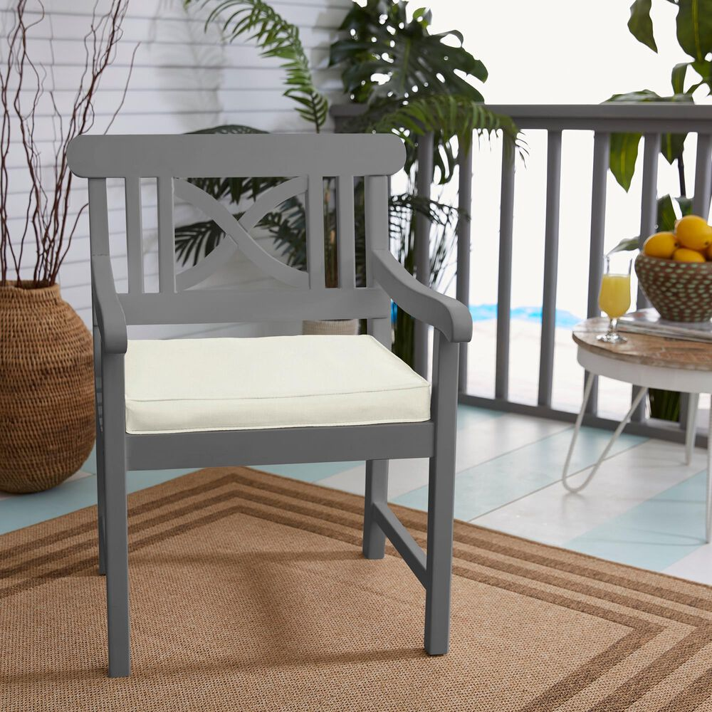 """Sorra Home Sunbrella 19"""" Chair Pad in Canvas Natural (Set of 2), , large"""