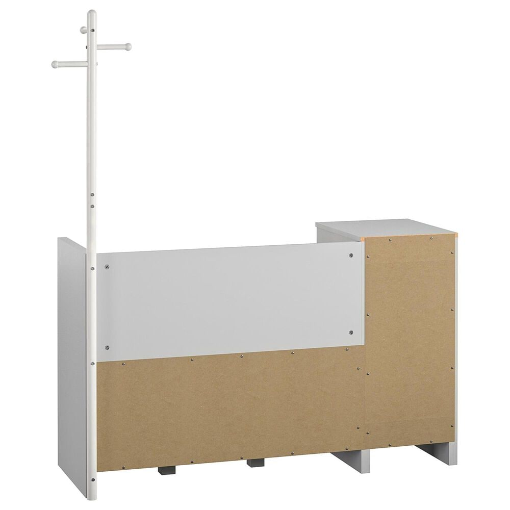 Ameriwood Furniture Tyler Storage Bench & Coat Rack in Dove Gray, , large