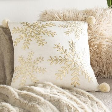 """Surya Inc Twinkle 20"""" Toss Pillow in Champagne and Ivory, , large"""