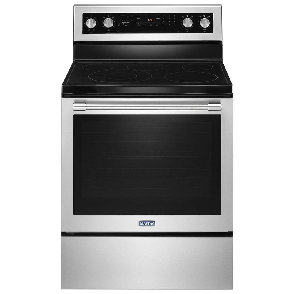 Maytag 6.4 Cu. Ft. Freestanding Electric Range in Stainless Steel, , large