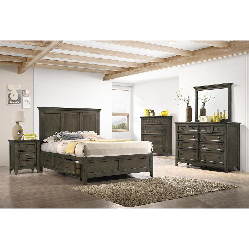 Hawthorne Furniture San Mateo 10 Drawer Dresser in Gray, , large