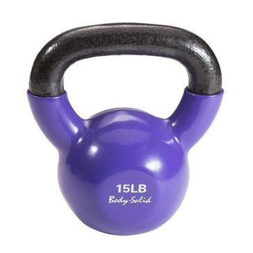 Body Solid 15Lb Vinyl Kettlebell in Purple, , large