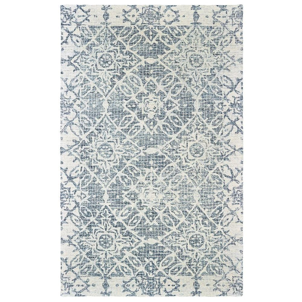 """Oriental Weavers Tallavera 55603 2""""6"""" x 8"""" Blue and Ivory Runner, , large"""