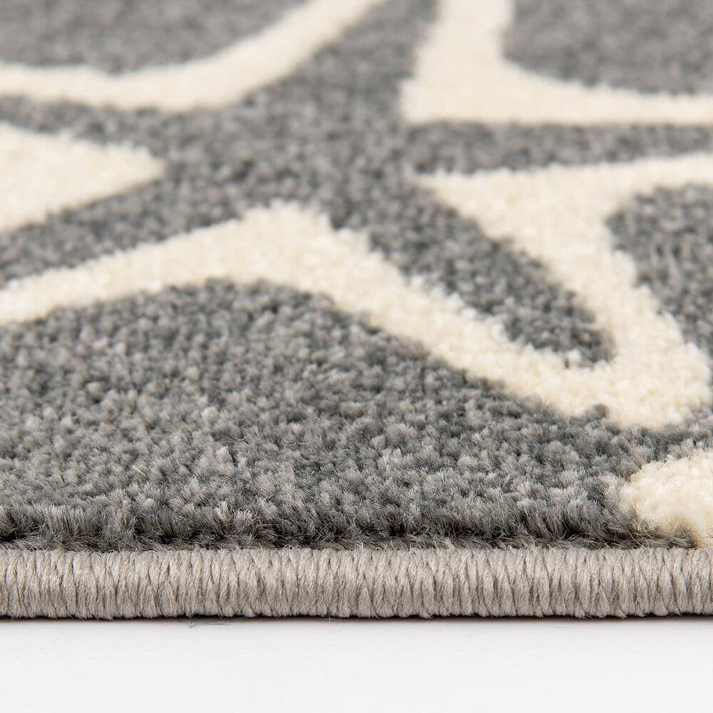 """Central Oriental Terrace Tropic Sandy Starfish 2340BGS.085 6'7"""" x 9'6"""" Stone and Snow Area Rug, , large"""
