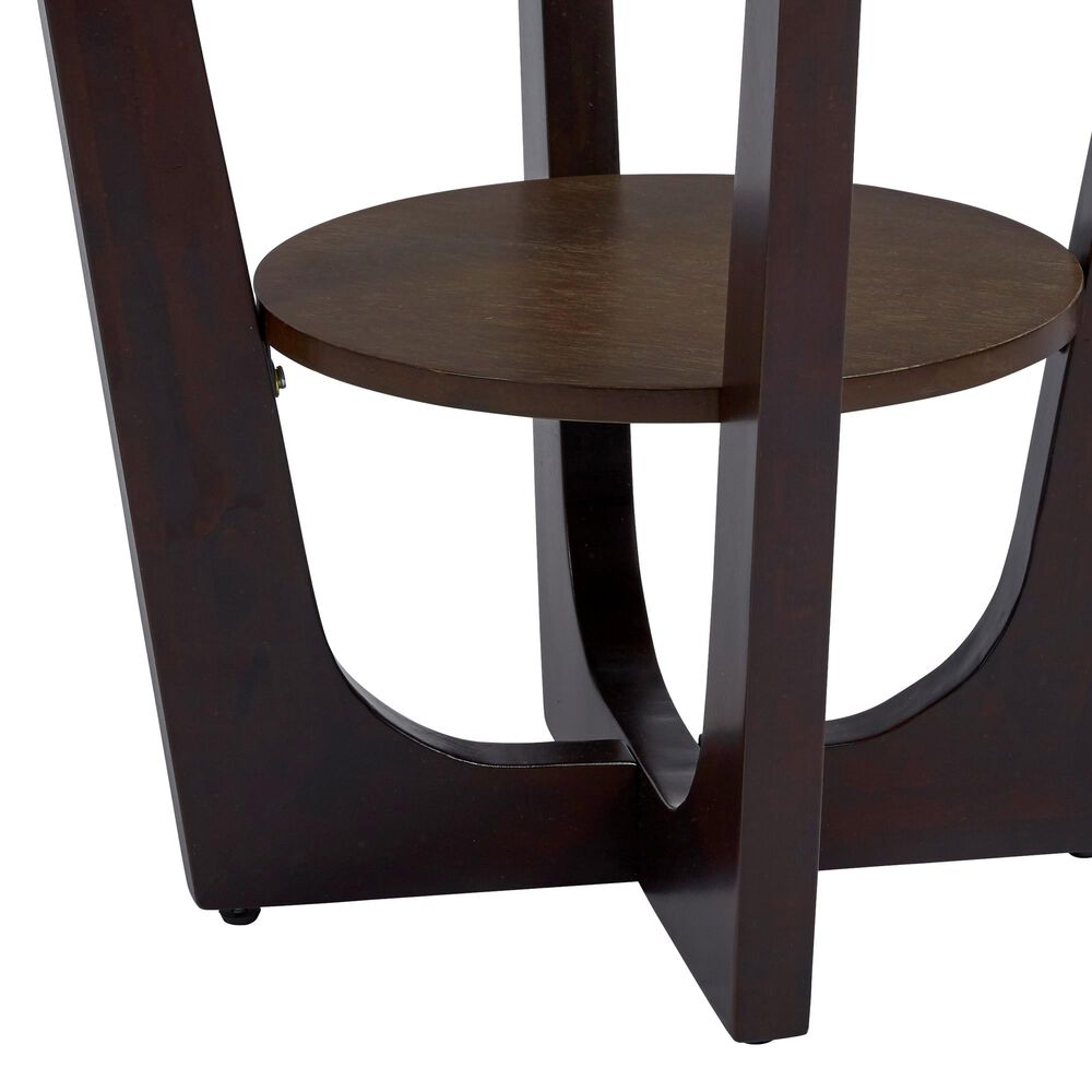 Tiddal Home Four-Points End Table in Espresso, , large