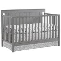 gray baby crib