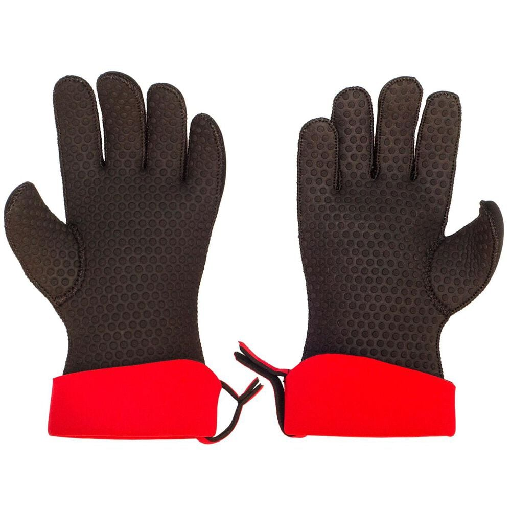 Cuisipro Chef's Glove Set 5-Finger Red/Black Large, , large