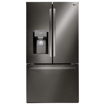 LG 27.9 Cu. Ft. Capacity 3-Door French Door Refrigerator in Black Stainless Steel , , large