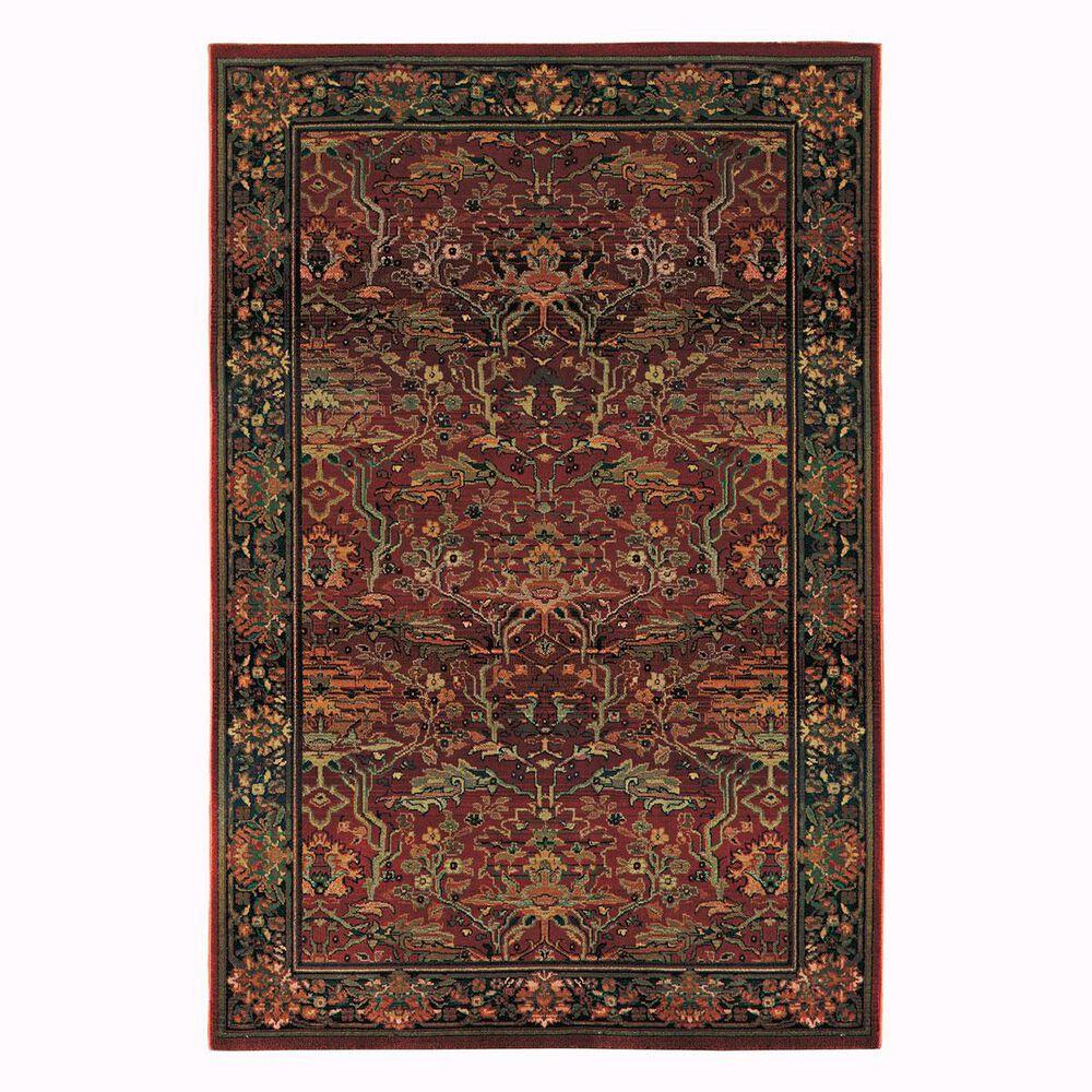 """Oriental Weavers Kharma 465R 2'3"""" x 7'6"""" Red Runner, , large"""
