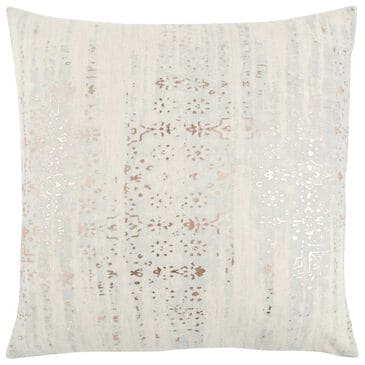 """Rizzy Home 20"""" x 20"""" Pillow Cover in White with Gold, , large"""