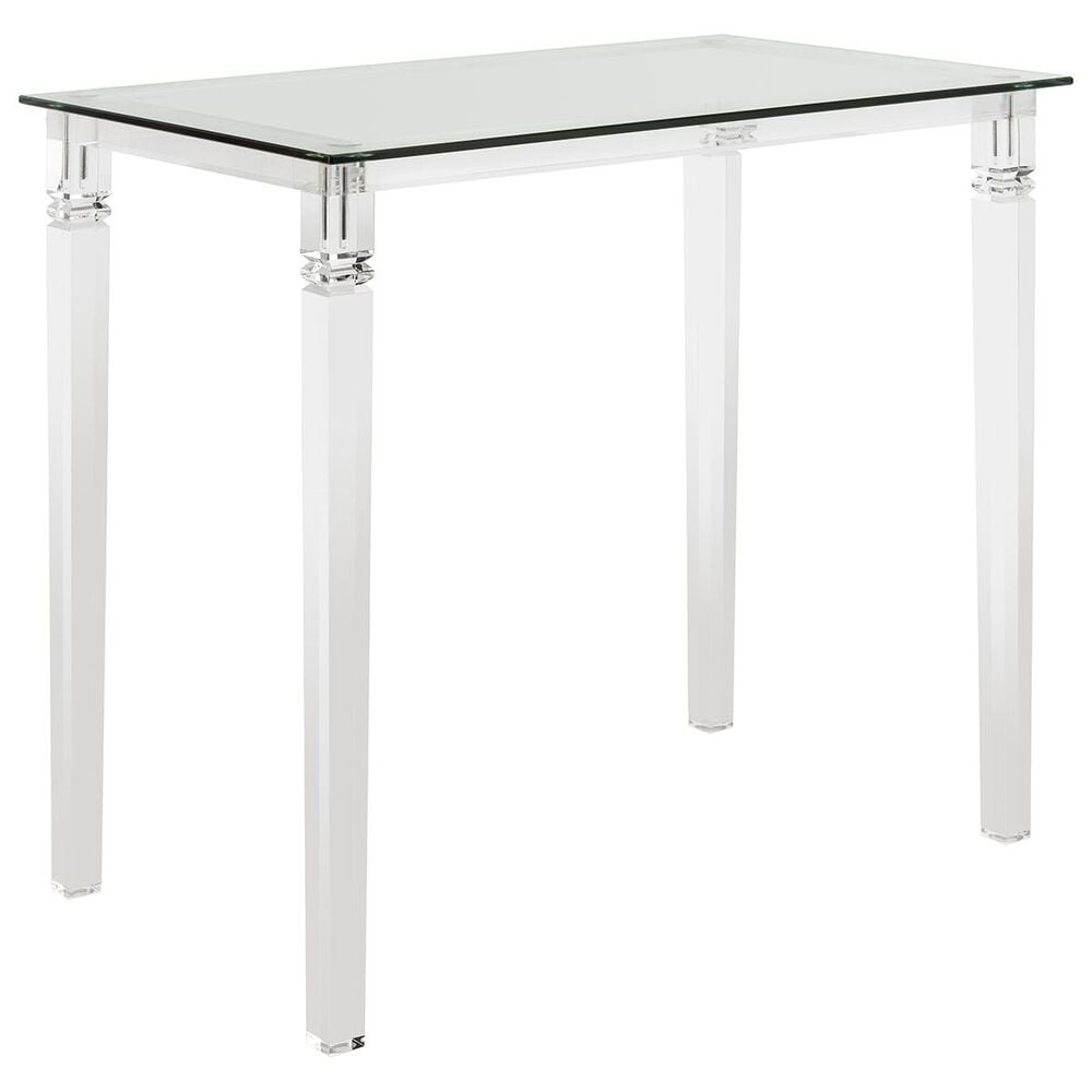 Safavieh Amelie Acrylic Side Table in Clear, , large