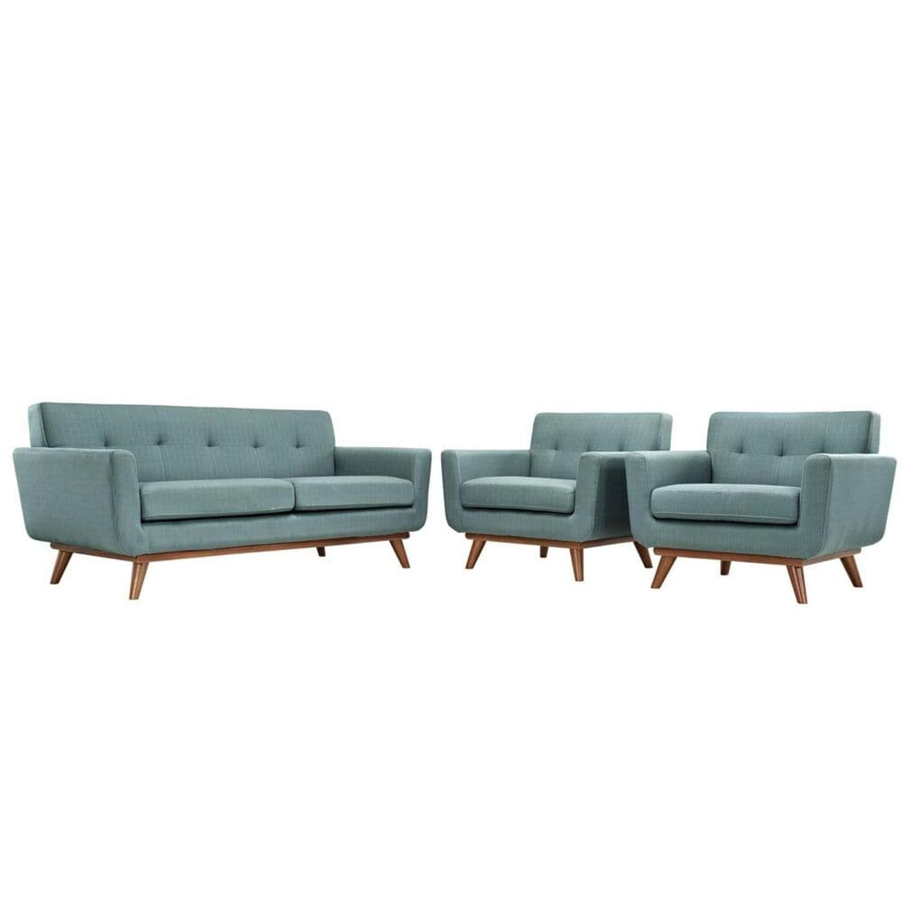 Modway Engage Two Armchairs and Loveseat in Laguna, , large