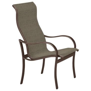Tropitone Shoreline High Back Dining Chair with Gaviota Sling in Rich Earth, , large