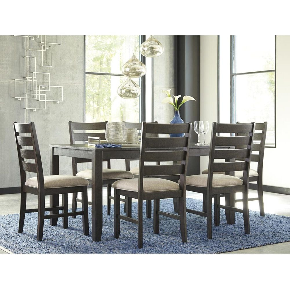 Signature Design by Ashley Rokane 7-Piece Dining Set in Light Brown, , large