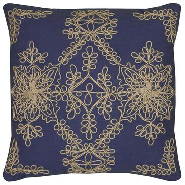 """Rizzy Home 18"""" x 18"""" Poly Fill Pillow in Blue, , large"""