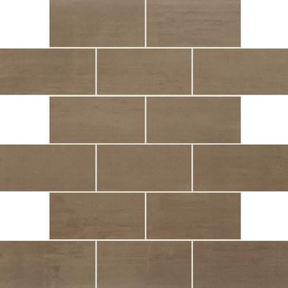 "Dal-Tile Skybridge 2"" x 4"" Ceramic Brick Joint Mosaic Tile in Brown, , large"