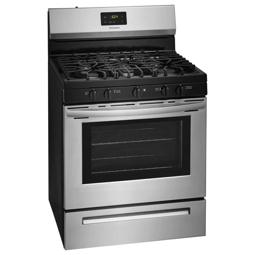 Frigidaire 30'' 5 Oval Burners Gas Range in Stainless Steel, , large