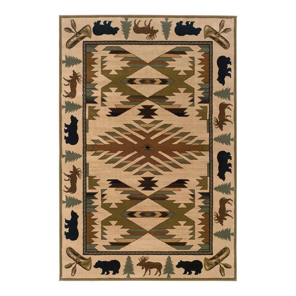 "Oriental Weavers Hudson 1072A 6'7"" x 9'6"" Ivory Area Rug, , large"