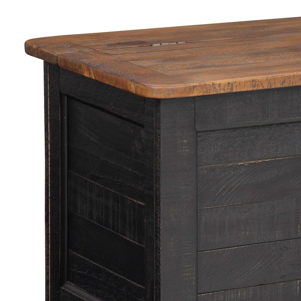 Signature Design by Ashley Dashbury Storage Trunk in Antique Black and Brown, , large