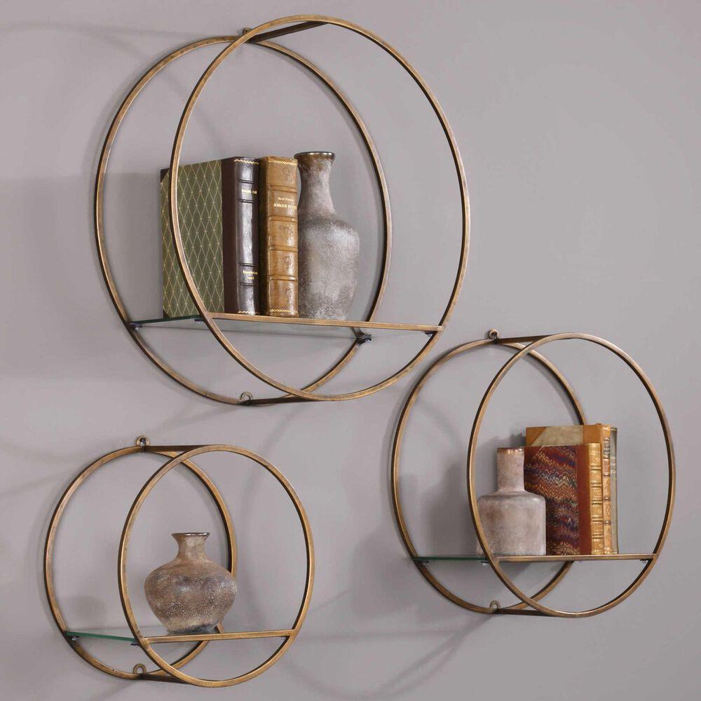 Uttermost Ellison Drum Cage Shelves (Set of 3), , large