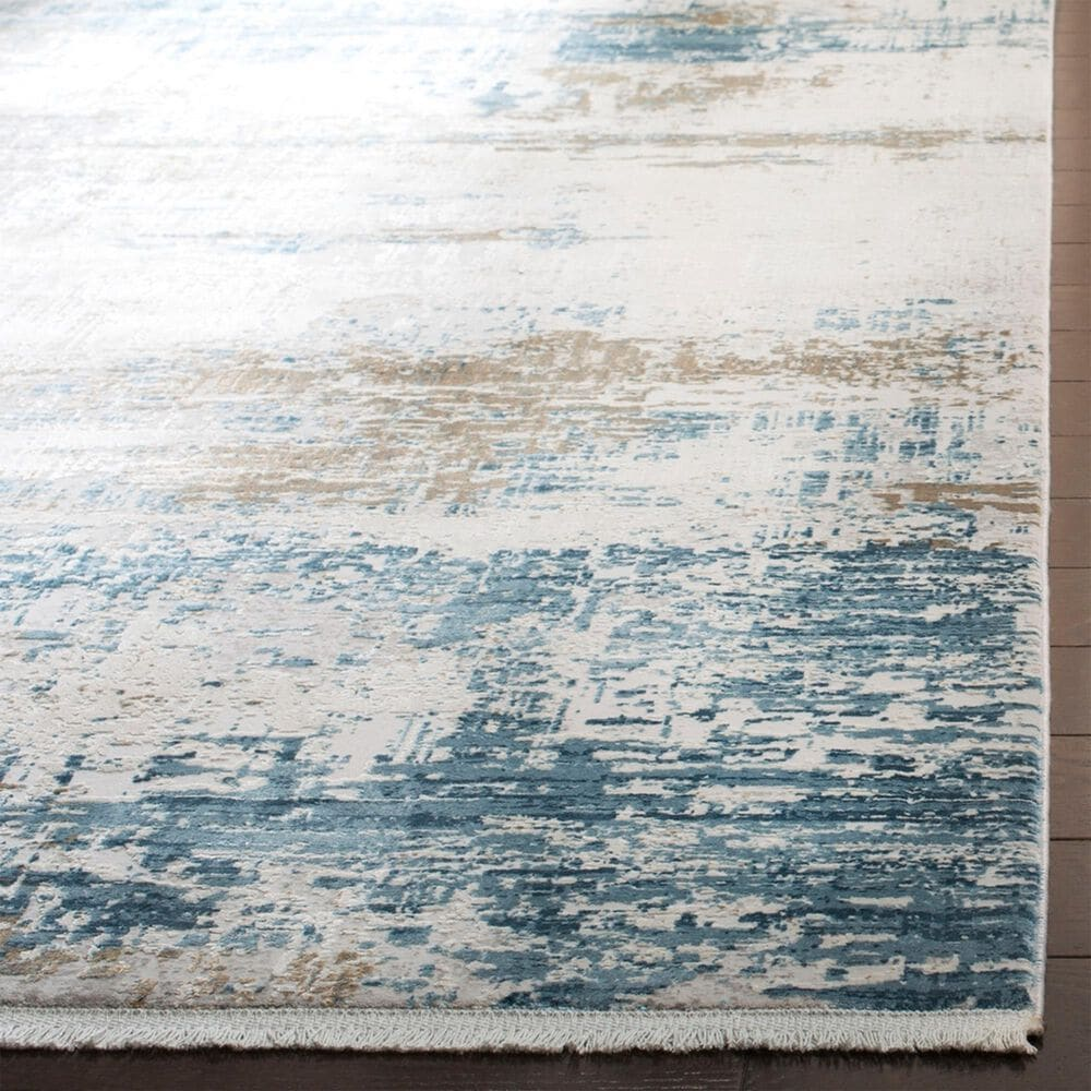 Safavieh Eclipse ECL226  9' x 12' Beige and Blue Area Rug, , large