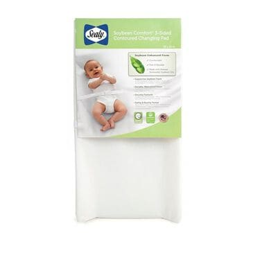Kolcraft Sealy Soybean Comfort 3-Sided Contour Diaper Changing Pad, , large