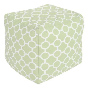 Surya Inc Surya Poufs Cube Pouf in Blue, , large