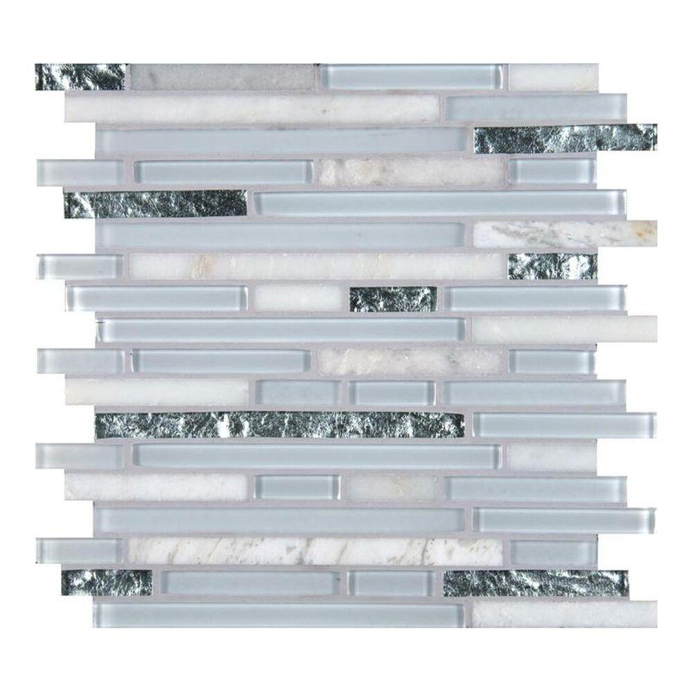 """MS International Cristallo 12"""" x 12"""" Glass and Stone Mix Mosaic Sheet, , large"""