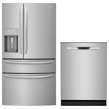 Frigidaire Gallery 2-Piece Kitchen Package with French Door Refrigerator - Stainless Steel, , large