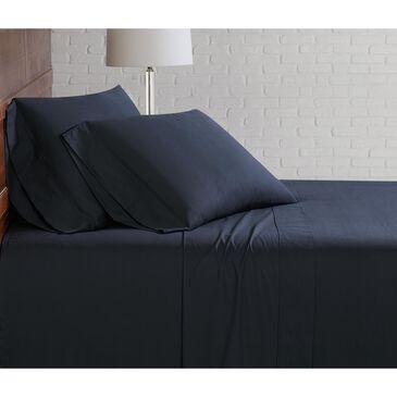 Pem America Brooklyn Loom Classic 3-Piece Twin Sheet Set in Black, , large