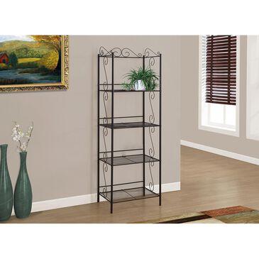 Monarch Specialties 4-Shelf Metal Bookcase in Copper, , large