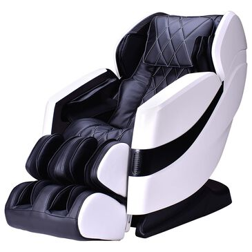 Cozzia Advanced L-Track Massage Chair in Black and White, , large