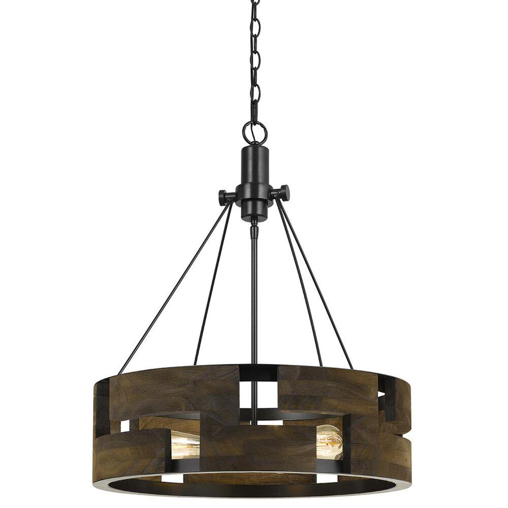 Cal Lighting Bradford 60W 3-Light Chandelier in Smoky Wood, , large