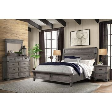 Hawthorne Furniture Forge Bedroom 4 Piece King Set in Pewter, , large