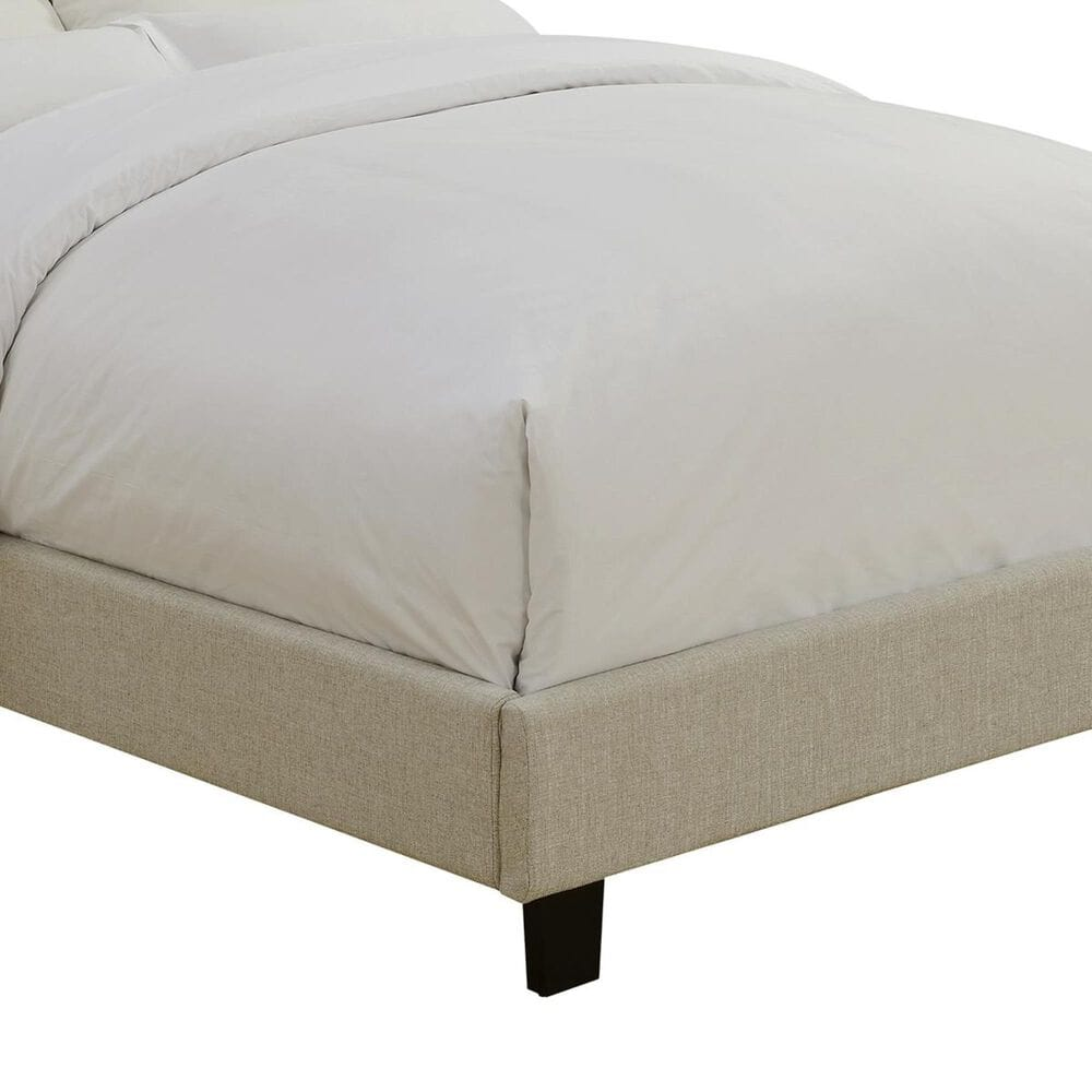 Accentric Approach Accentric Accents Benton Queen All-In-One Upholstered Bed in White, , large