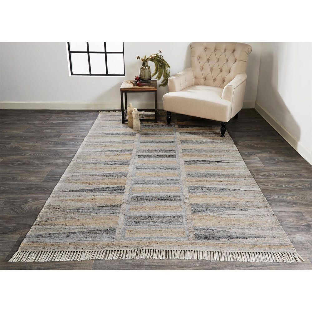 """Feizy Rugs Beckett 0817F 9'6"""" x 13'6"""" Gray and Beige Area Rug, , large"""