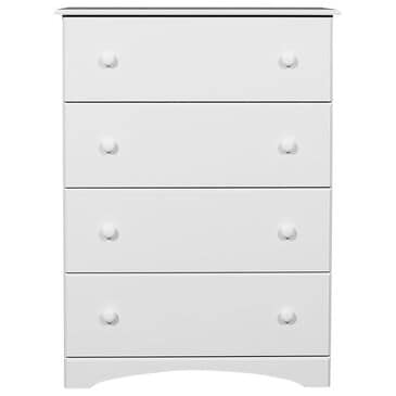 Lemoore Essential 14000 4 Drawer Chest in White, , large