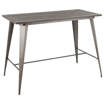Lumisource Oregon Counter Table in Espresso/Antique, , large