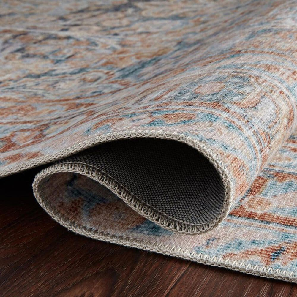 """Magnolia Home Lenna LEA-02 2'6"""" x 12' Ocean and Apricot Runner, , large"""