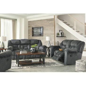 Signature Design by Ashley Capehorn 3-Piece Manual Reclining Living Room Set in Granite , , large