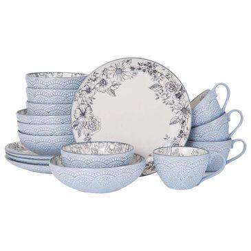 Pfaltzgraff Gabriela 16-Piece Dinnerware Set in Gray and Blue, , large