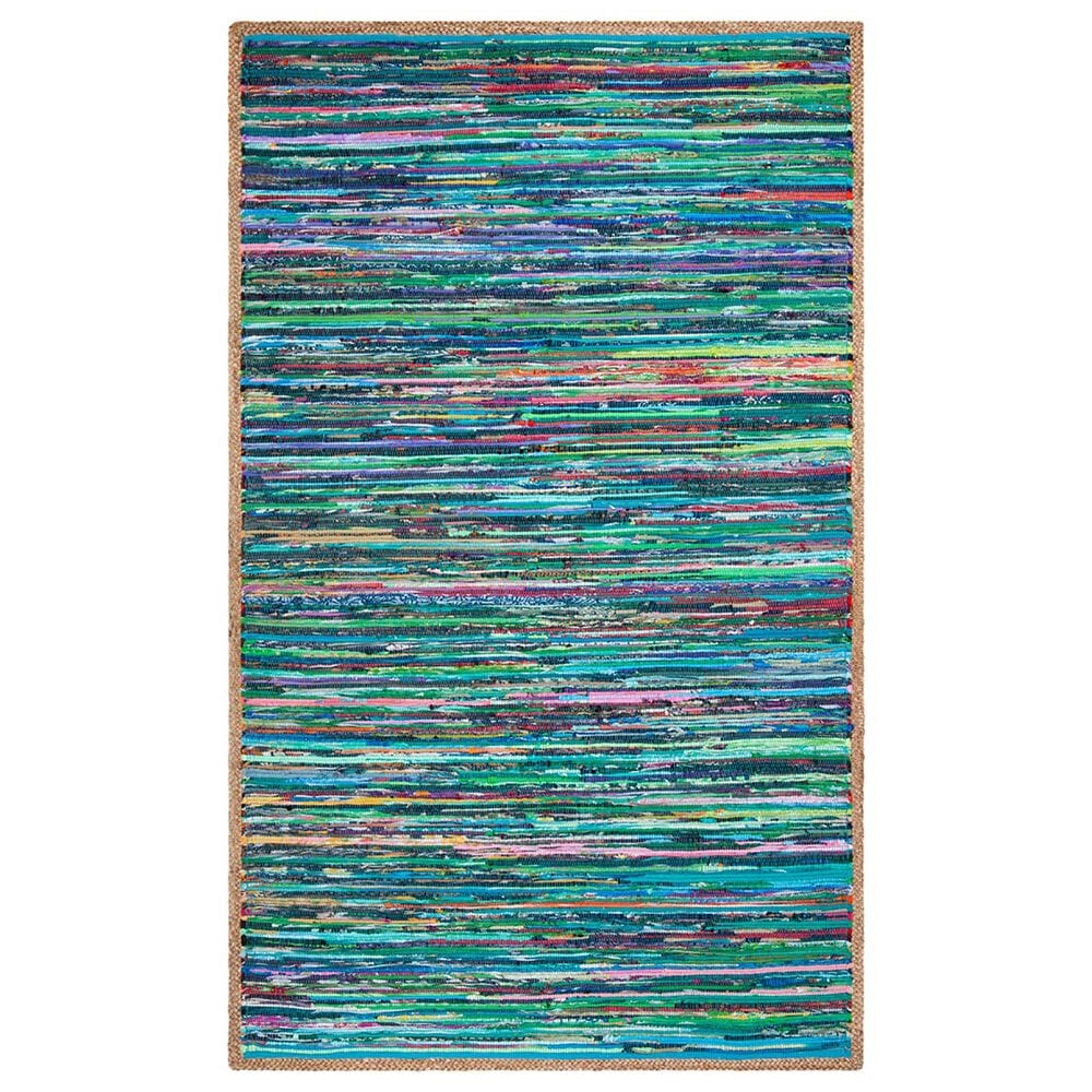 Safavieh Montauk  5' x 8' Green and Natural Area Rug, , large
