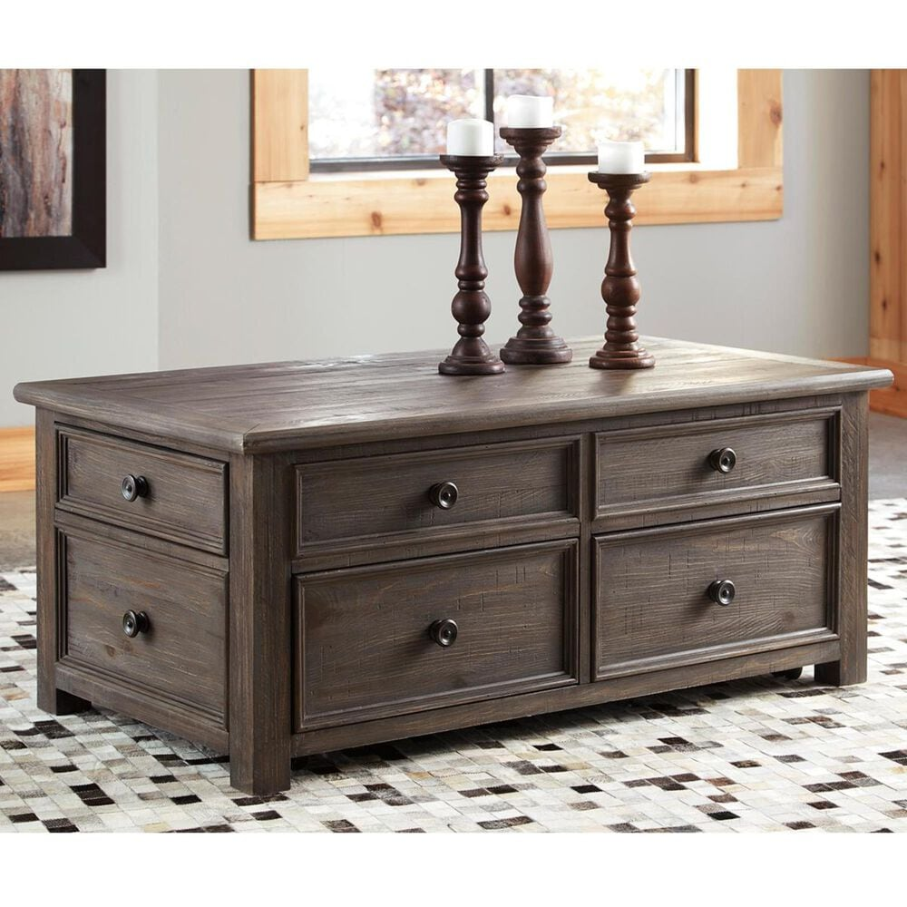 Signature Design by Ashley Wyndahl Lift Top Cocktail Table in Rustic Brown, , large